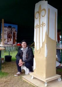 Milada Zahnhausen beim 6.Bildhauersymposium 2013 Moritzburg / D