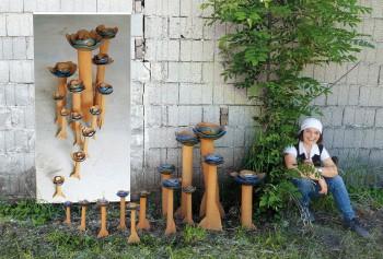Betonblumen im Freien mit Milada Zahnhausen